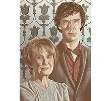 Sherlock & Mrs. Hudson Photographic Print