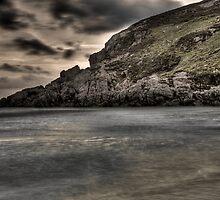 Moody seashore by Gabor Pozsgai