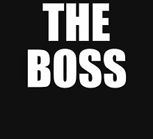 THE BOSS, Gaffer, Boss, The Govenor, CEO, In charge, The Chief, Obey! White Womens Fitted T-Shirt