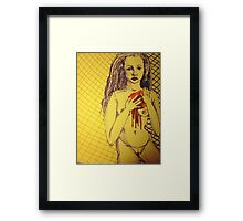 And My Blood Comes Pouring Out. Framed Print