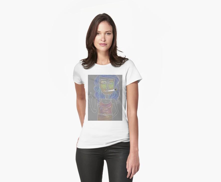 Fuck you...T-shirt :-) by Iuliia Dumnova