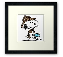Detective Snoopy Holmes Framed Print