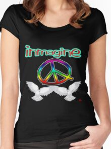 PEACE / IMAGINE Women's Fitted Scoop T-Shirt