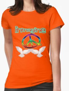 PEACE / IMAGINE Womens Fitted T-Shirt
