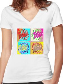 TEABAG HIT! Anachrotees' Design Women's Fitted V-Neck T-Shirt