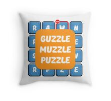 Guzzle Muzzle Puzzle Ruzzle Inspiration Throw Pillow