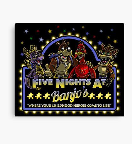Five Nights at Banjo's Canvas Print