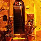 A Door with a Staricase. Borgo, Ostia Antica, Rome, Italy 2010 by Igor Pozdnyakov