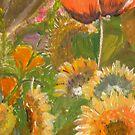 Teddybear Sunflowers and Poppy by Woodbine252