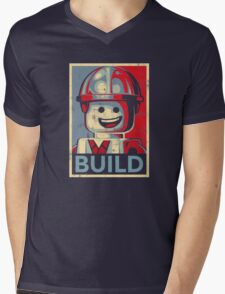 BUILD Mens V-Neck T-Shirt