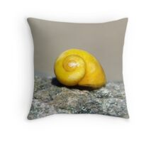 Bright Yellow Shell Throw Pillow