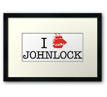 I Ship Johnlock Framed Print