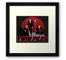 Twin Files Framed Print