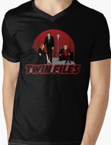 Twin Files Mens V-Neck T-Shirt