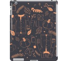Sweater Weather in Navy and Coral iPad Case/Skin