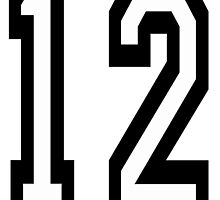12, TEAM SPORTS, NUMBER 12, twelfth, twelve, ONE, TWO, Competition,  by TOM HILL - Designer