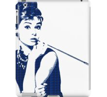 Audrey Hepburn Breakfast at Tiffany's 2 Blue  iPad Case/Skin