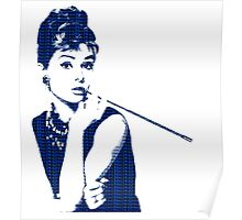 Audrey Hepburn Breakfast at Tiffany's 2 Blue  Poster
