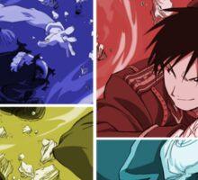 fullmetal alchemist edward elric roy mustang anime manga shirt Sticker