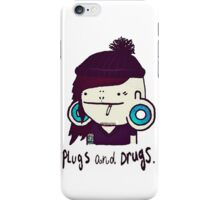 plugs and drugs iPhone Case/Skin