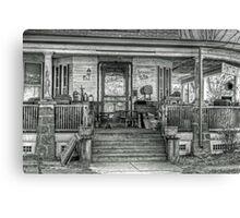 Antiques place- B&W Canvas Print