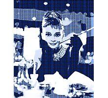 Audrey Hepburn Breakfast at Tiffany's Blue  Photographic Print