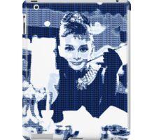 Audrey Hepburn Breakfast at Tiffany's Blue  iPad Case/Skin