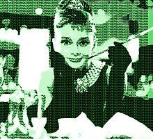 Audrey Hepburn Breakfast at Tiffany's Green  by yin888