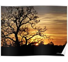 Fading Sun - Sun dropping on the horizon Poster