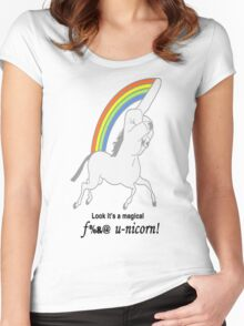 Look Mom ! A F%*K U-nicorn Women's Fitted Scoop T-Shirt