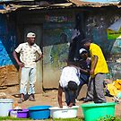 Street vendors in vibrant Nairobi, KENYA by Atanas NASKO