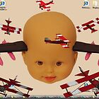 Cyborg Baby Air Brigade Desktop Background Biplane Air Show Escape Routine by zen9000