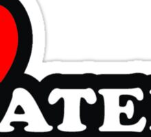 """MUSIC - """"I Love Haters"""" Sticker"""