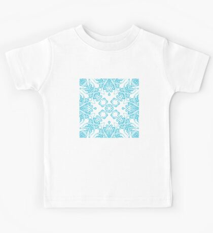 Abstract blue pattern Kids Tee