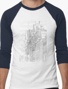 Kenmore Hotel Facade Men's Baseball ¾ T-Shirt