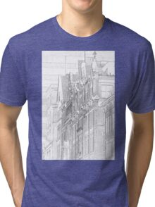 Kenmore Hotel Facade Tri-blend T-Shirt