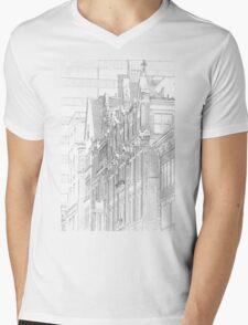 Kenmore Hotel Facade Mens V-Neck T-Shirt