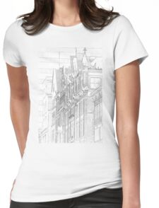 Kenmore Hotel Facade Womens Fitted T-Shirt