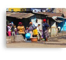 People collecting water in Nairobi - KENYA Canvas Print