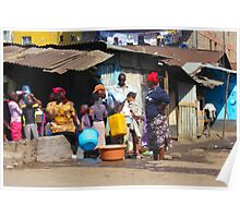 People collecting water in Nairobi - KENYA Poster
