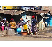 People collecting water in Nairobi - KENYA Photographic Print