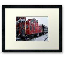 Cold Caboose Framed Print