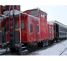 Cold Caboose Photographic Print