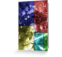 fate zero saber rider gilgamesh lancer caster anime manga shirt Greeting Card