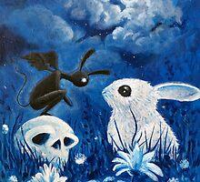 Bunny Reaper by angelaoddling