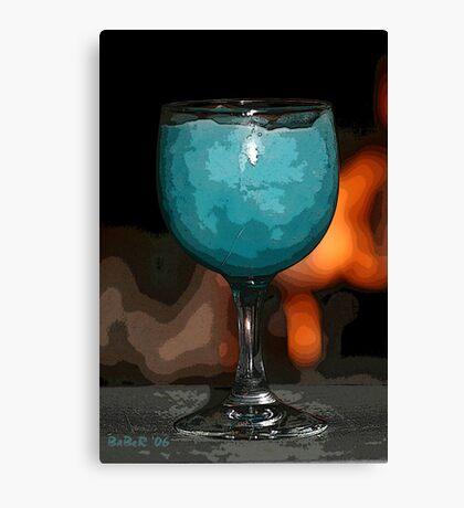 Frozen Blue Daquari PE Canvas Print