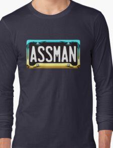 SHINY BLUE/GOLD LICENSE PLATE HOLDER - ASSMAN Long Sleeve T-Shirt