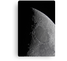 Northern Lunar Pole, Seas of Cold, Serenity, and Tranquility - Landolt Telescope Canvas Print