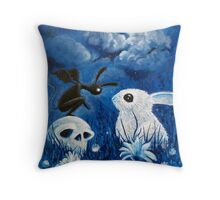 Bunny Reaper Throw Pillow