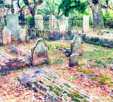 Country Churchyard by Harry H Hicklin